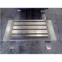 "Steel 4 Slot T-Slot Milling Table, 25.5"" x 16.5"" x 2"""