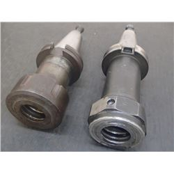 CAT40 Extended TG100 Collet Chucks, 2 Total