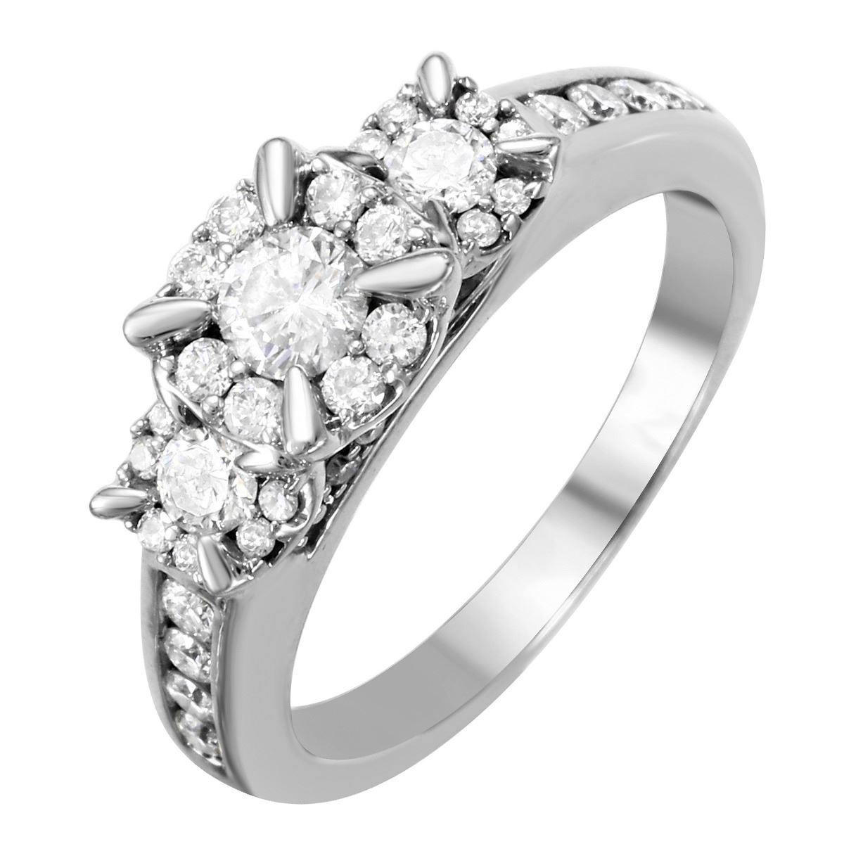 14KT White Gold Diamond Engagement Ring -# 1688