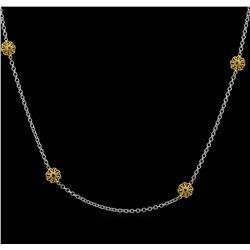 James Kurk 0.12 ctw Black Diamond Necklace - 14KT Two-Tone Gold