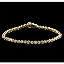 1.52 ctw Diamond Tennis Bracelet - 14KT Yellow Gold