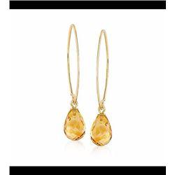 5.75 ct. t.w. Citrine Earrings in 14kt Yellow Gold