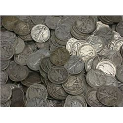 Lot of 50 Walking Liberty Halves