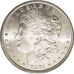 1881 S BU Morgan Dollar