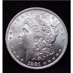 1881 s CH BU Morgan Dollar