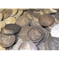 Lot of (100) Morgan Silver Dollars (ag-vg)