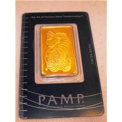 1 OZ. Pamp Suisse Gold Ingot 999.9 Pure