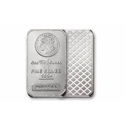 1 oz. Silver Bar Morgan Design Bar