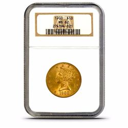 1900 MS 62 NGC $ 10 Gold Liberty