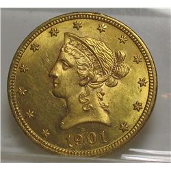 1901 $ 10 Gold Liberty Eagle
