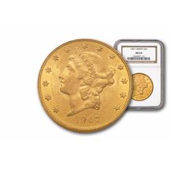 1907 MS 63 NGC $ 20 Gold Liberty