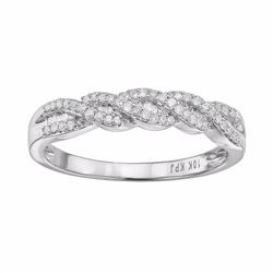 1/5 Carat T.W. Diamond 10k Gold Twist Ring