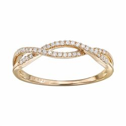 1/8 Carat T.W. Diamond 10k Gold Openwork Twist Ring