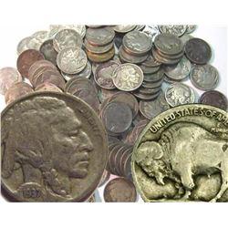 Lot of (100) Buffalo Nickels - PD- RD