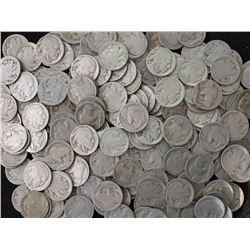Lot of (300) ND Buffalo Nickels
