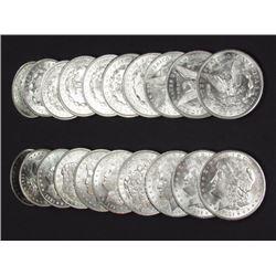 Lot of (20) 1880-1921 BU-UNC Morgan Dollars