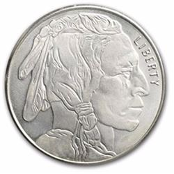 1 Troy Ounce .999 Pure Silver Buffalo Design Round
