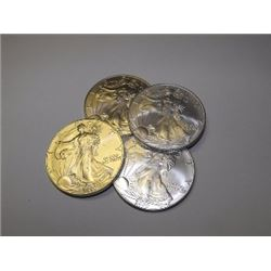 Lot of (4) US SIlver Eagles