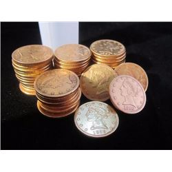 (5) $ 5 Gold Liberty's from Photo- Random Dates