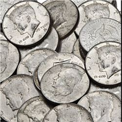 Lot of  50 Kennedy half Dollars 90% Silver