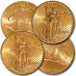 (4)  $20 Saint  Gauden's Double Eagle UNC
