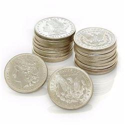 Twenty BU grade Morgan Dollars MIXED DATE