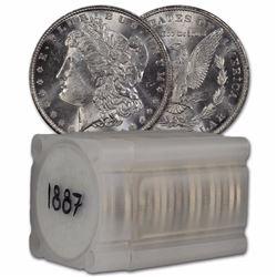 1887 P BU Morgan Dollars 20 Pcs. Roll BU