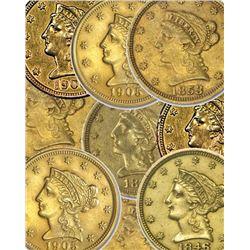 (1) Random Date $ 2,5 Liberty Gold Coin
