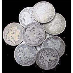 Lot of (10) Morgan Silver Dollars Random Dates