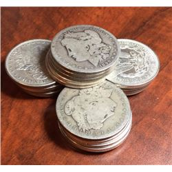 Lot of (20) Mixed Date Morgan Silver Dollars