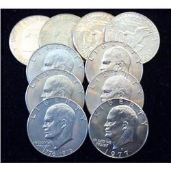 Lot of (10) AU BU IKE Dollars