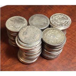 Lot of (100) Morgan Silver Dollars