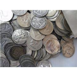 Lot of 50 Mixed Type 90% Half Dollars