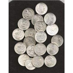 Lot of 20 - BU or Better Morgan Dollars