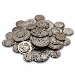 $10 Face Value 90% Silver Coins Mixed
