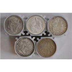Lot of (100) XF AU Morgan Silver Dollars in Rolls