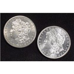 1880-1881 CH BU PL Morgan Dollars