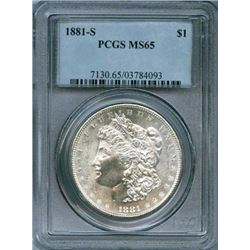 1881 s MS 65 PCGS Morgan Dollar