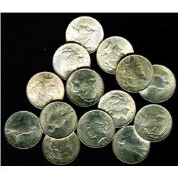 Lot of (20) BU Peace Dollars