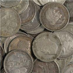 Lot of (10) Columbian Expo Half Dollars 1892-3