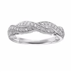 Diamond Twist Engagement Ring in 14k White Gold (1/3 ct. T.W.)