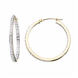 10k Gold Inside-Out Hoop Earrings