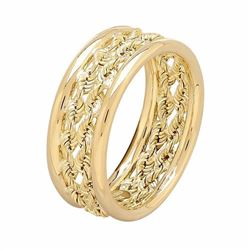 10k Gold Double Rope Ring