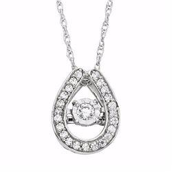 1/5 Carat T.W. Diamond 10k White Gold Horseshoe Pendant Necklace