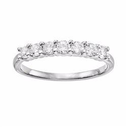 1/2 Carat T.W. Diamond 10k White Gold Anniversary Ring
