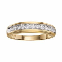 14k Gold Two-Tone 3/8-ct. T.W. Certified Diamond Wedding Band