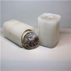 (2) Rolls 40 pcs. US Silver Eagles Mint Rolls