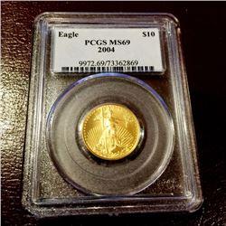2004 MS 69 PCGS $ 10 Gold Eagle