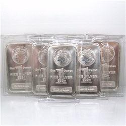 (8) 1 oz. Silver Bars- Morgan Design