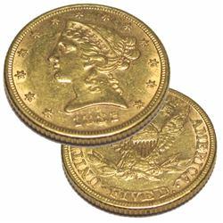 1882 P $ 5 Gold Liberty Half Eagle